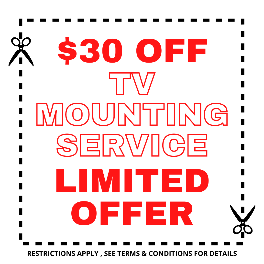 tv mounting $30 discount